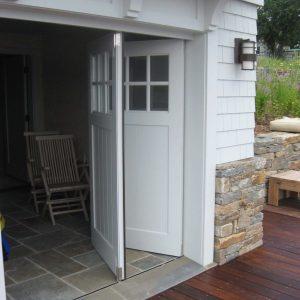 horizontal bifold garage door Pretty bi folding garage door For the Home Pinterest